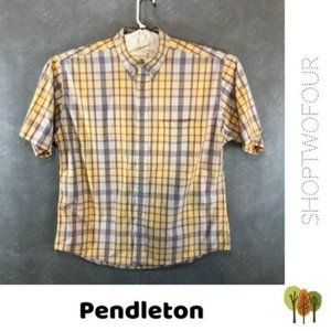 Pendleton plaid short sleeve button down shirt XL
